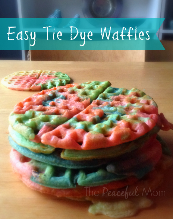 Tie Dye Waffles 2 from The Peaceful Mom