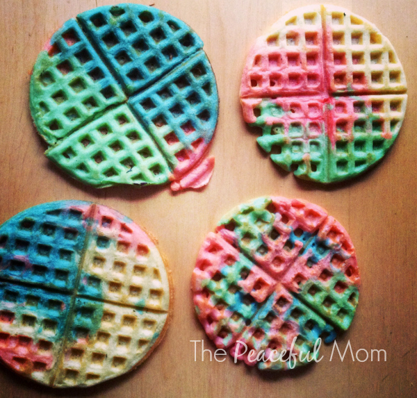 Tie Dye Waffles Finished 2 - The Peaceful Mom