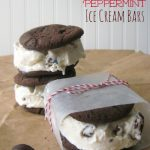 Chocolate Peppermint Ice Cream Bars