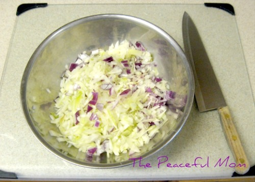 Chopped Onions - The Peaceful Mom
