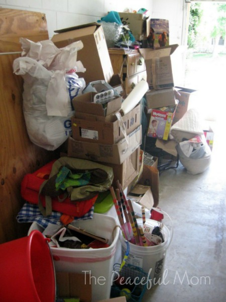 Get Organized - Garage Declutter Before - The Peaceful Mom