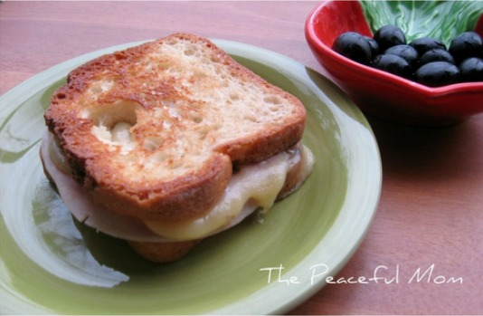 Gluten Free Turkey Pepper Jack Grilled Cheese - The Peaceful Mom