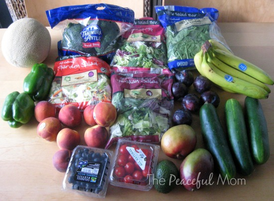 Groceries - Aldi Produce 2014-7-11 - The Peaceful Mom