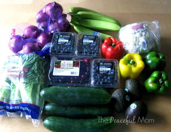 Groceries - Aldi Produce 7-18-14 - The Peaceful Mom