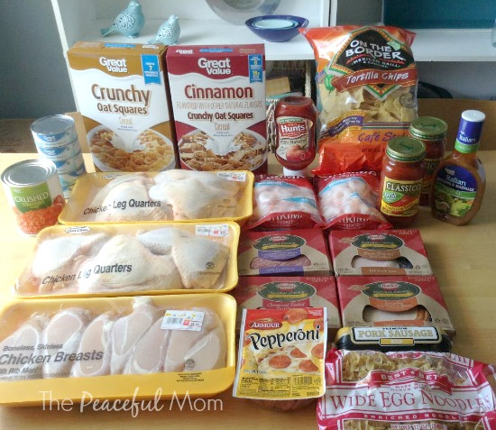 Groceries Walmart Meat & Grocery Items - 2014-7-25 - The Peaceful Mom
