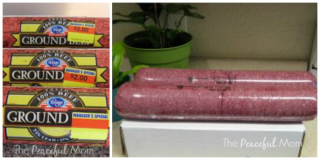 How to Freeze Ground Beef 2 - The Peaceful Mom