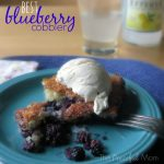 The Best Blueberry Cobbler - The Peaceful Mom