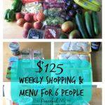 $125 Budget Shopping & Menu for 6