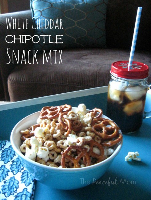 White Cheddar Chipotle Snack Mix 1 - The Peaceful Mom