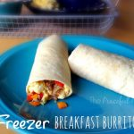 Freezer Breakfast Burritos from The Peaceful Mom 1