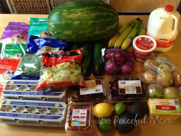 Groceries 2014 -8-1 Aldi Produce and Dairy - The Peaceful Mom