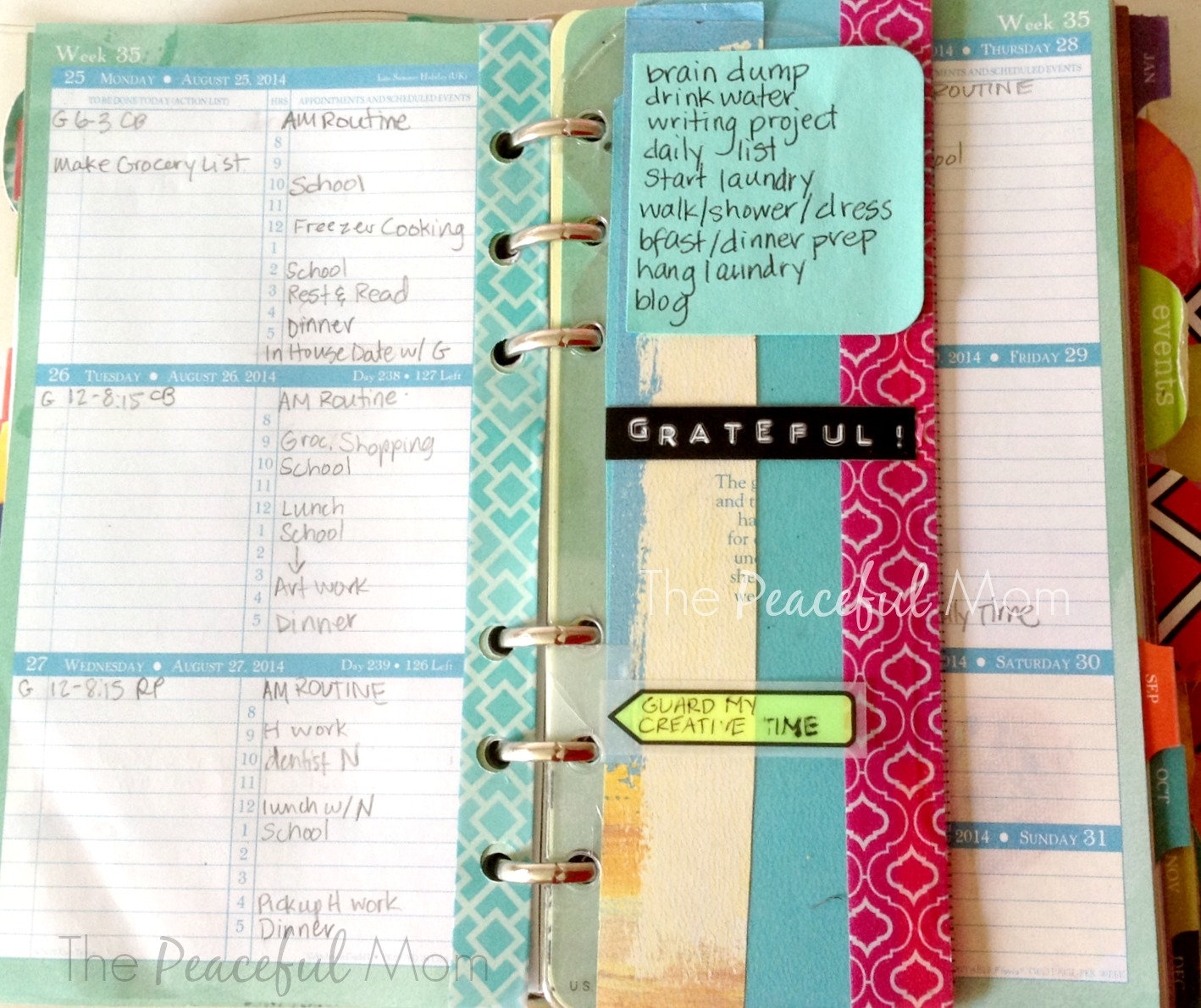 My Calendar Planner : Get organized my weekly intentional plan print your