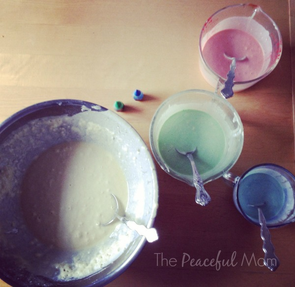 Tie Dye Waffle Batter - Instagram - The Peaceful Mom