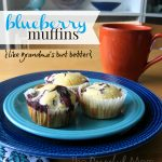 Delicious Buttery Blueberry Muffin Recipe - The Peaceful Mom