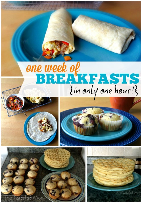 One Week of Breakfasts in 1 Hour from The Peaceful Mom