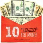 Slider - 10 Easy Ways to Find Free Money - The Peaceful Mom