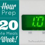 1 Hour Prep = 20 Minute Meals All Week -- The Peaceful Mom -