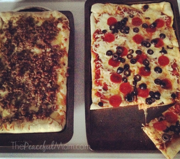 Easy Homemade Pizza - the finished product - The Peaceful Mom