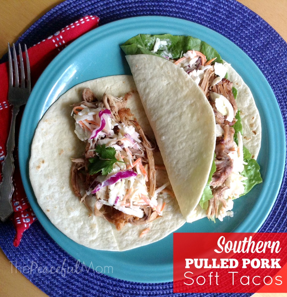 Southern Pulled Pork Soft Taco Recipe - The Peaceful Mom