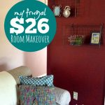 My Frugal $26 Room Makeover plus tips to update yours -- The Peaceful Mom