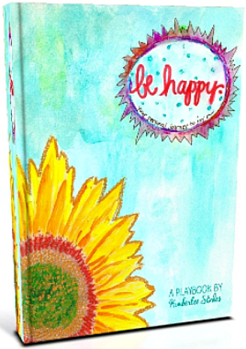 Be Happy e-book 3D Cover -- The Peaceful Mom