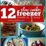 12 Slow Cooker Freezer Meals in 1 Hour {+ dinner tonight!}