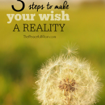 3 Steps to Make Your Wish a Reality -- The Peaceful Mom --