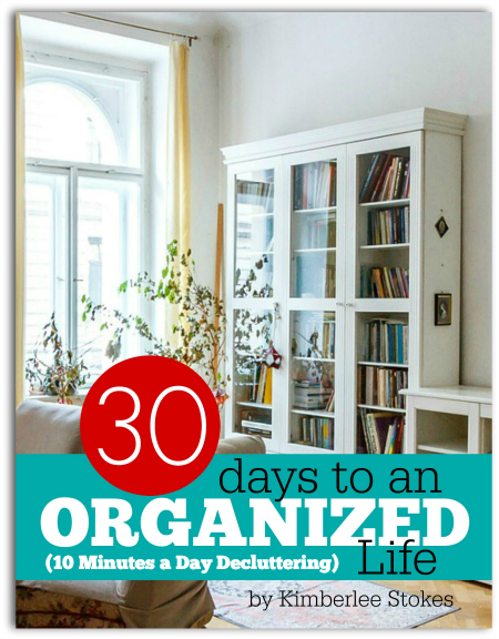 30 Days to an Organized Life 10 min declutter kit photo -- The Peaceful Mom