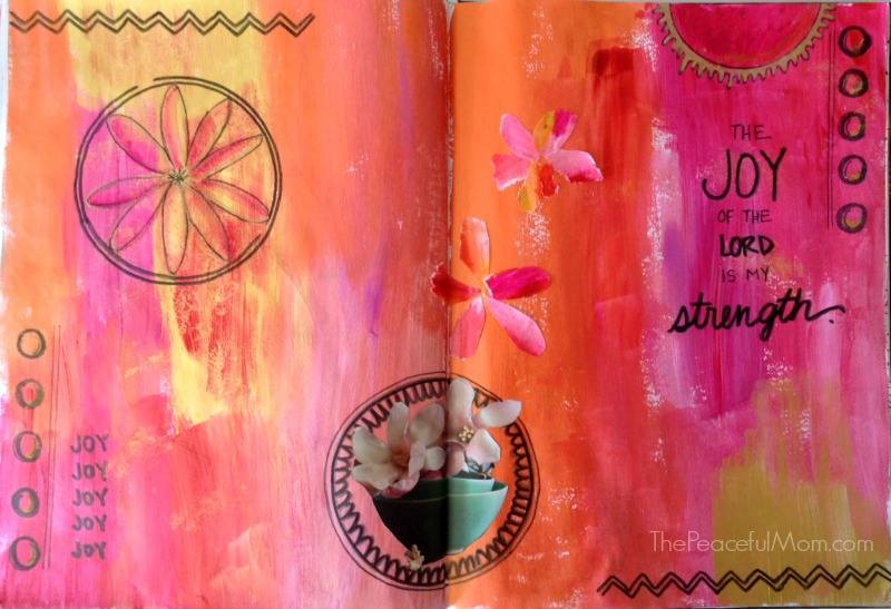 Art Journal - The Joy of the Lord is my strength -- The Peaceful Mom
