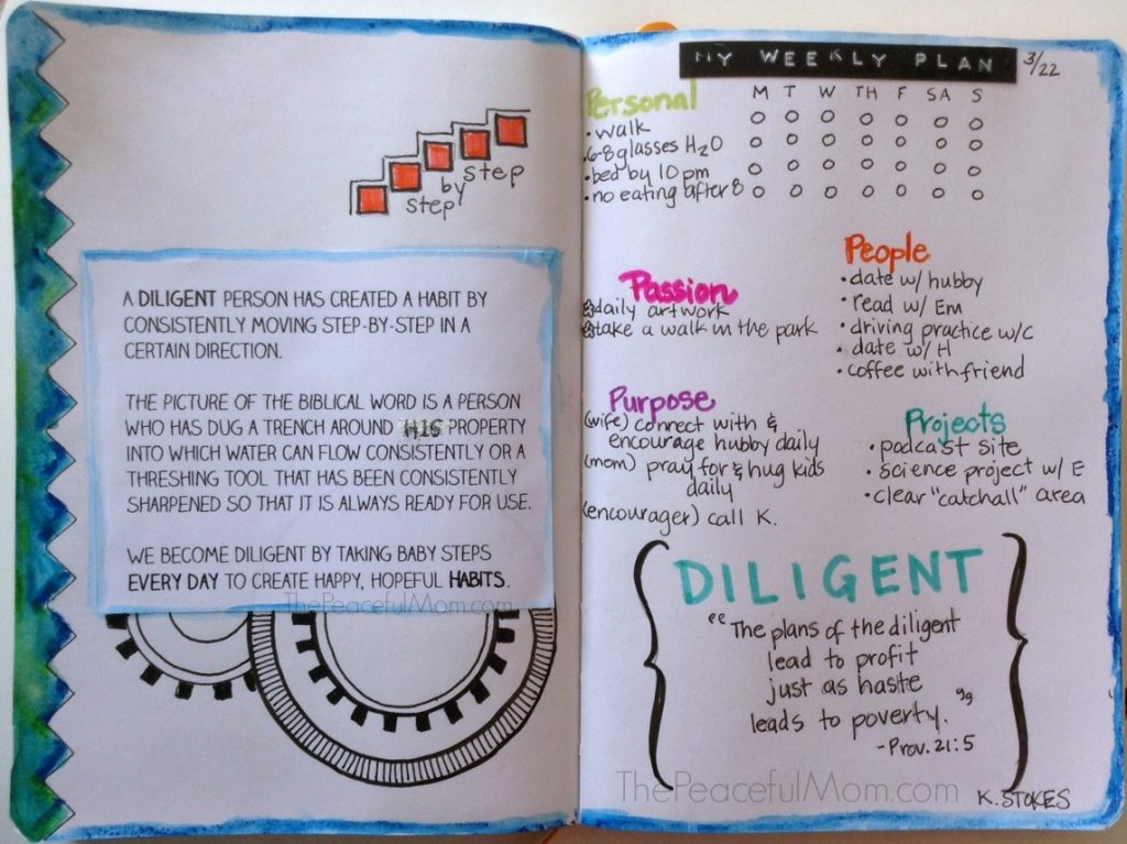 My Weekly Plan 3-23 - Journal View -- The Peaceful Mom