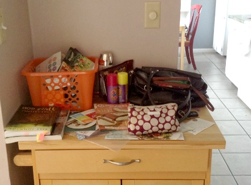 Organize - Decluttering the Catchall Area - -- The Peaceful Mom