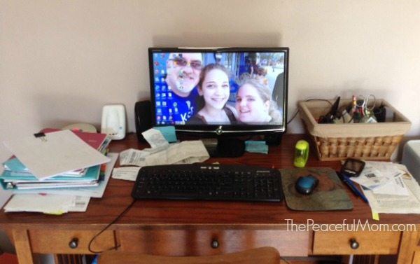 Organize Paper Work Fast - Desk Clutter -- The Peaceful Mom