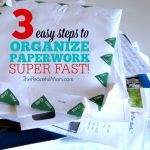 Organize Your Paperwork Fast -- 3 Steps to a Clean Desk In 10 Minutes -- The Peaceful Mom -