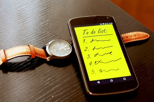 smartphone to do list -