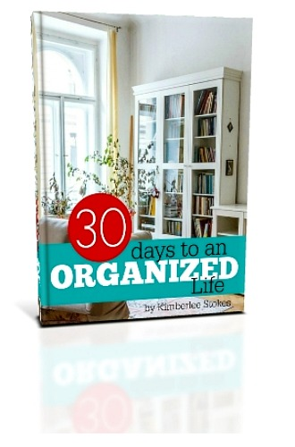 30 Days to an Organized Life 3D Book Cover B3 -- The Peaceful Mom