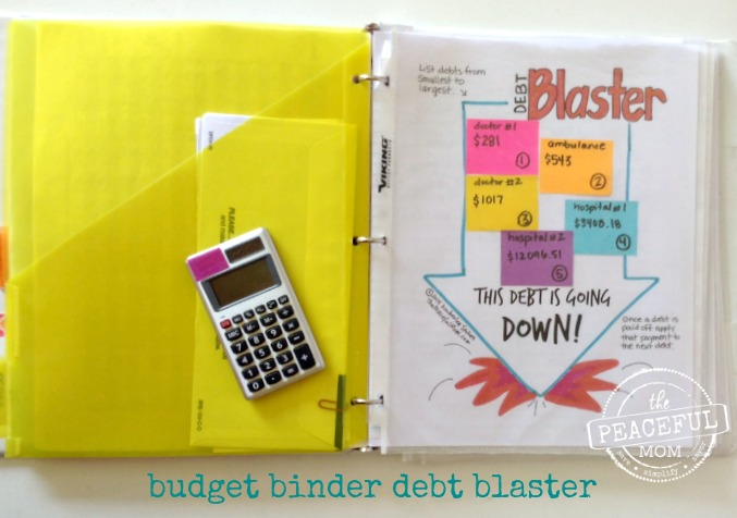 1 Month Money Makeover - Our Debt Blaster Plan for Becoming Debt Free -- The Peaceful Mom