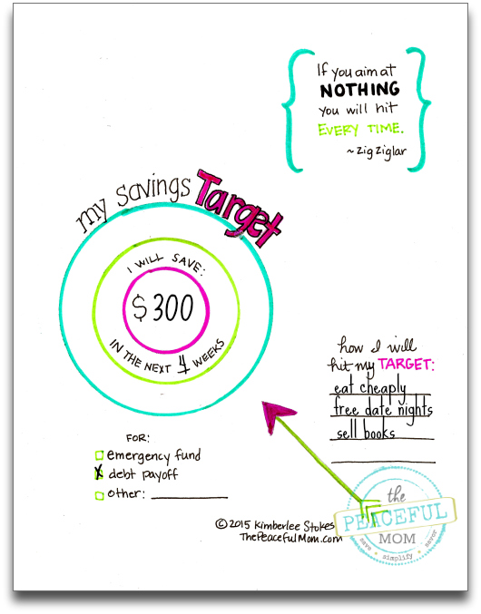 Money Makeover - My Savings Target Completed -- The Peaceful Mom
