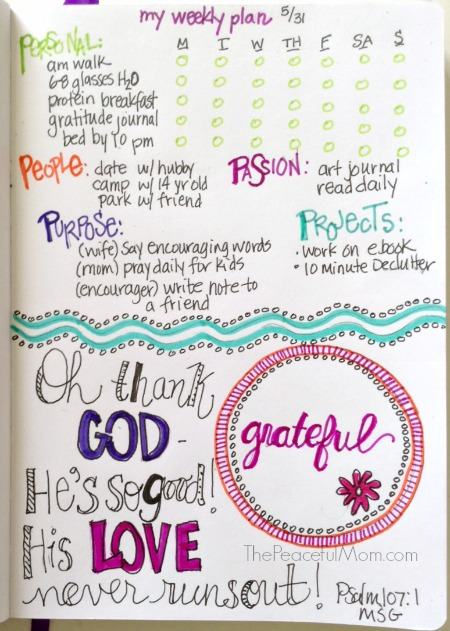 Get Organized - My Weekly Plan 2015-5-31 PLUS Print Your Own -- The Peaceful Mom