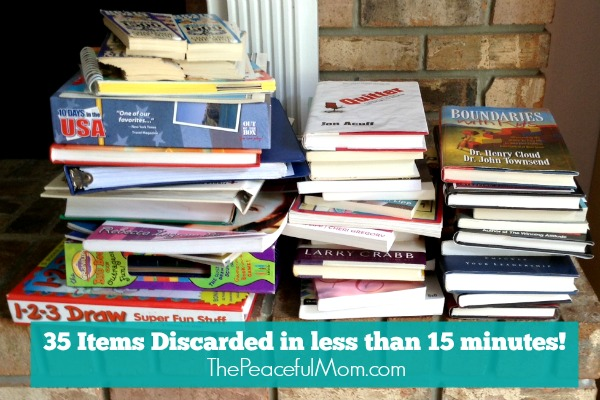 Konmari Declutter - 35 Items Gone in 15 Minutes -- from the Peaceful Mom