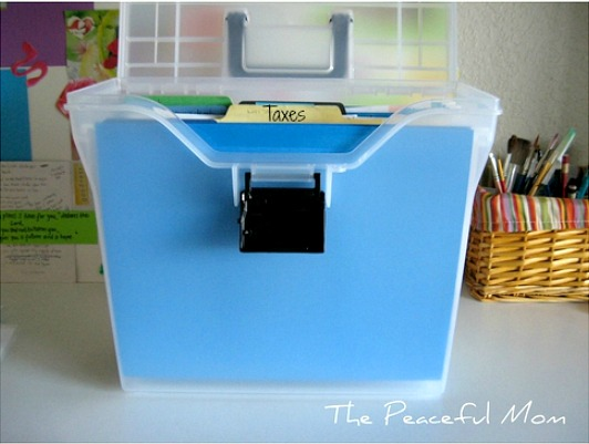 How to Organize Paperwork - Label These Types of Folders -- The Peaceful Mom