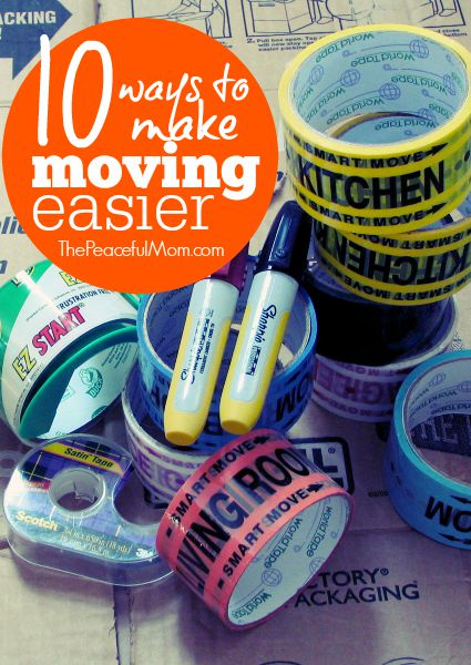 10 Ways to Make Moving Easier -- Tips and Tricks from The Peaceful Mom