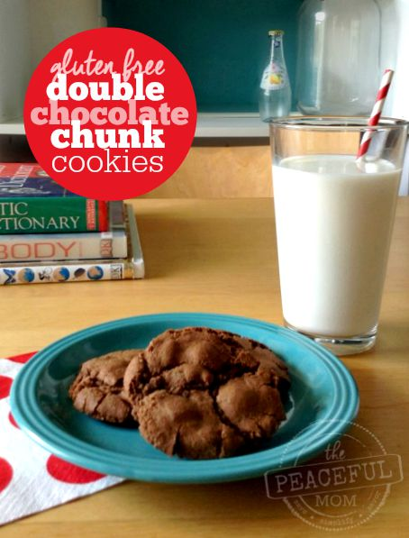 Gluten Free Double Chocolate Chunk Cookies 2 -- The Peaceful Mom