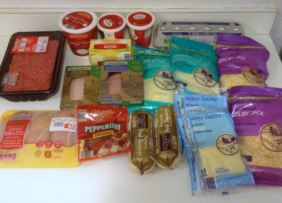 100 Budget Groceries for 5 -- October -- Aldi Meat and Dairy -- The Peaceful Mom