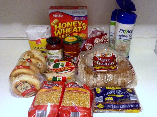 100 Budget Groceries for 5 -- October -- Aldi Pantry Items -- The Peaceful Mom