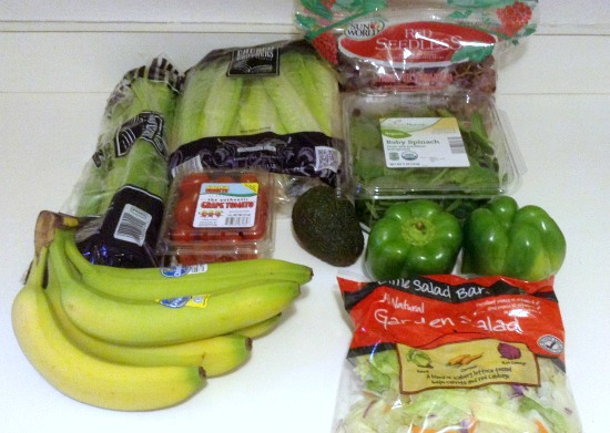 100 Budget Groceries for 5 -- October -- Aldi Produce -- The Peaceful Mom -