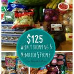 125 Budget Weekly Shopping and Menu for 5 People -- The Peaceful Mom