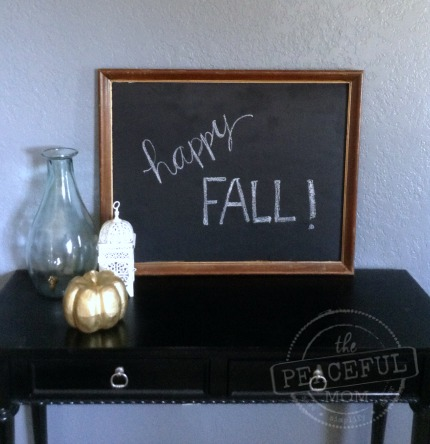DIY Framed Chalkboard finished 2 - The Peaceful Mom - The Peaceful Mom