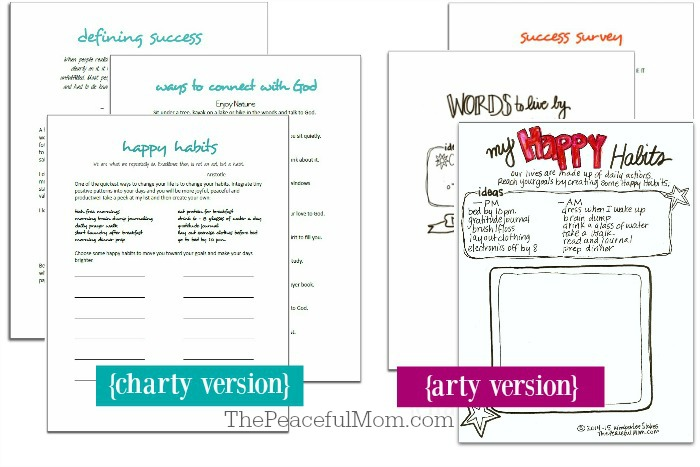 1 Joyful Life Planner Pages -- Explore Section