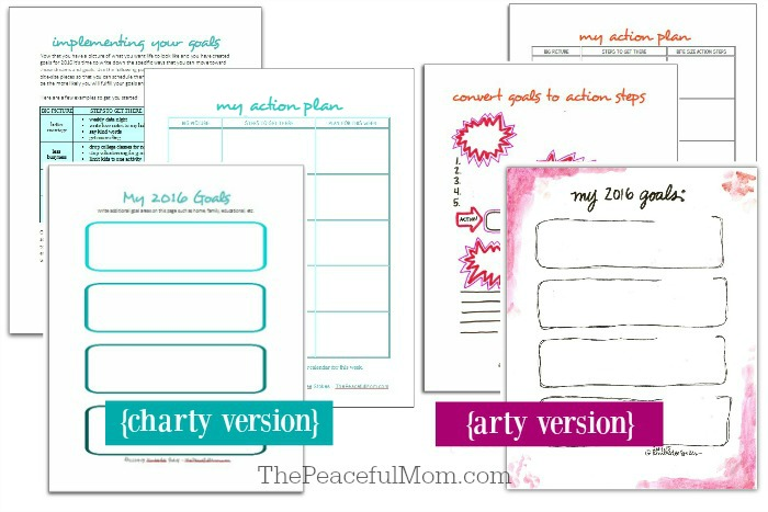 1 Joyful Life Planner Pages -- Plan Section 1