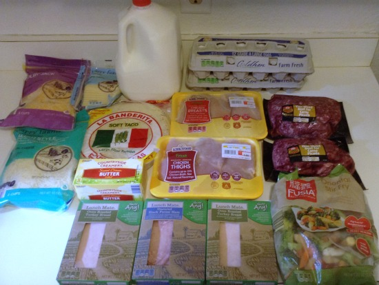 100 Budget Weekly Menu for 5 - Nov 6 -- Aldi Meat and Dairy